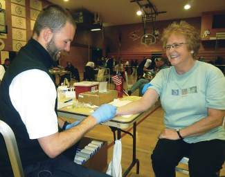 Pat Hollandsworth had blood drawn during last year's 9Health Fair at Eagle Valley High School. The event will return to the valley on Satuday, May 3.