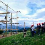 Employees at Adventure Ridge on Vail Mountain receive training on the ropes challenge course. The ropes courses as well as the new zipline will premiere Aug. 10.