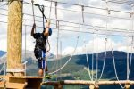 Traverse through multiple obstacles on Adventure Ridge's north and south challenge courses. For younger children, the kids ropes course is a great option, testing balance with suspended wooden bridges and swinging logs.