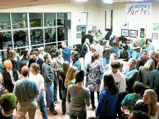 Alpine Arts Center's grand opening party (pictured here) was the start of this tradition; today they celebrate their four year anniversary with special art activities throughout the day and a customer appreciation party from 5 to 7 p.m.