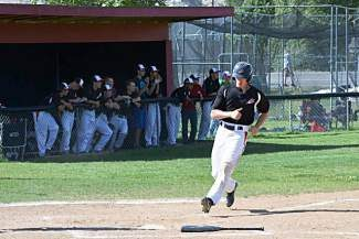 Slater Sabo makes his way to home base during a recent Eagle Valley baseball contest in Gypsum. Sabo was one of five Devils players named to the Western Slope 4A All League team.