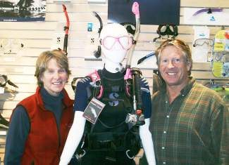 Emily, left, and Casey Zwaan are the owners of Beaver Divers in Eagle-Vail.