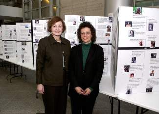 "Charlotte Waisman, left, and Jill S. Tietjen wrote ""Her Story: A Timeline of the Women who Changed America."""