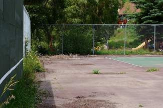The tennis courts at East Vail's Booth Creek Park remain deserted. The Vail Town Council reviewed possible renovation plans on Tuesday.