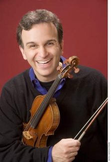 """Gil Shaham, pictured with his 1699 """"Countess Polignac"""" Stradivarius, performs Friday at Bravo! Vail."""