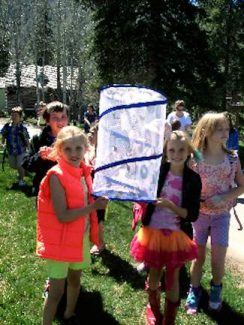 Students from 27 classrooms in both public and private schools in Eagle and Lake County were supplied with butterfly kits including a viewing net, caterpillars and food. They will release their butterflies today in Donovan Park in Vail