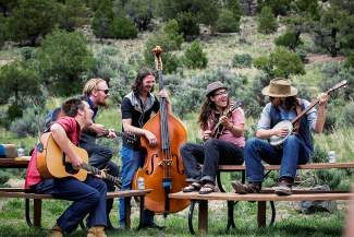 Campout for the Cause represents musical diversity, spanning genres from gypsy rock, bluegrass, acoustic roots, jazz and indie pop. Colorado sweethearts, Elephant Revival, headline the weekend along with Paper Bird and Head for the Hills, along with Fruition, pictured here.