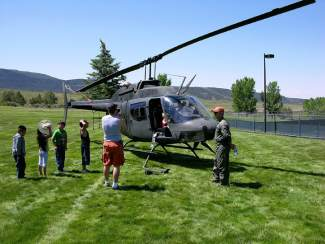Carl Gray flew this Huey to a local event as part of a demonstration. He flet countless rescue missions with HAATS, possibly the last Vietnam era pilot on a military contract.