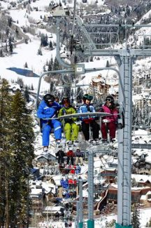 Skiers head up Centennial Lift (Chair 6) on a busy day in Beaver Creek. The lift will be replaced next season with a gondola-and-chair combination lift, which resort officials said will give skiers of all levels flexibility when it comes to getting up the mountain.
