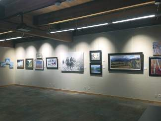 The public is invited to select the next work to be displayed over the fireplace at the Vail Library through a People's Choice Award. A ballot box is located within the exhibition, so that you can cast your vote.