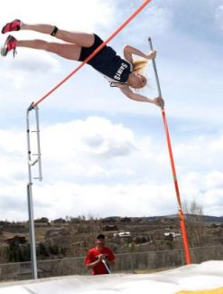 Vail Christian's Taylor Alexander takes another shot at the 10-foot pole vault during Battle Mountain's home track meet Saturday in Edwards. Alexander took first place in the women's pole vault.
