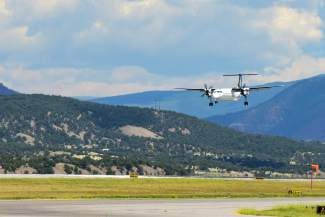 A flight touches down at Eagle County Regional Airport on Monday. Air Canada's newly offered flight from Toronto to Eagle County Airport failed to perform as well as expected last winter. Now the airline plans to scale back service and have asked for a $115,000 revenue guarantee so as not to lose money on the flight.