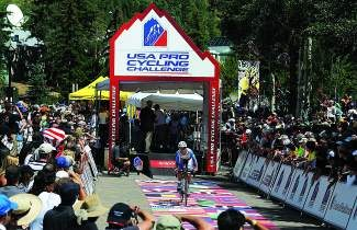 Crowds line the start area of the USA Pro Challenge course two years ago in Vail Village. This year, organizers expect thousands of people to line the routes today into Beaver Creek and Friday in Vail.