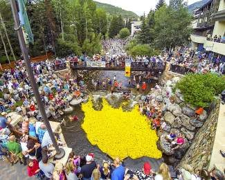 More than 10,000 rubber ducks made their way down Gore Creek last year for the annual Vail Rotary Rubber Duck Race.