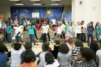 Avon Elementary students performed songs and skits about recycling, water conservation and protecting the planet for future generations.