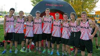 The Eagle Valley boys cross-country team celebrates its fourth straight trip to the sate meet after qualifying on Friday in Delta.