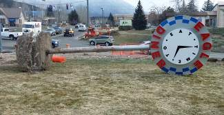 The Eagle Diner sign has been uprooted as crews launch the 2014 construction season at Eby Creek Road. Temporary traffic signals are being set up this week and motorists are experiencing changes in the traffic pattern. Traffic configurations to accommodate the next phase of work have been established with the dedicated right turn lane northbound on Eby Creek Road to get onto Chambers Avenue removed. Motorists needing to turn right will do so from the through lane. Additionally, eastbound Chambers Avenue has been reduced to one lane of traffic in each direction. There will be new stripes painted on the street to help motorists navigate the new traffic pattern and lanes. Motorists should expect some delays through the corridor and plan their trips accordingly. A suggested alternate route for Gypsum residents to avoid traffic delays is the US6/I-70 Gypsum interchange.