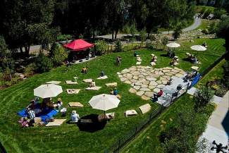 On Friday, the Edwards Riverwalk Backyard amphitheater hosted its concert debut, a midday performance by Gipsy Moon. When unavailable as a free place to hang out or eat  lunch, the venue will be used for activities like community events and even weddings.