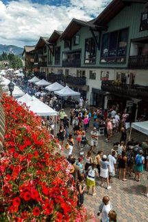 Gore Creek Drive was packed with people out to enjoy fine food and drinks during the Taste of Vail's open air tasting Saturday in Vail Village.