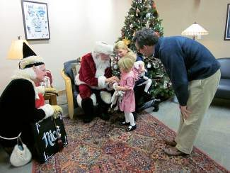 Santa will visit the Vail Library on Thursday.
