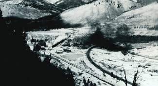 The Pando Valley where Camp Hale was built filled with coal smoke from coal stoves used for heat and the coal-fired steam locomotives that rolled through. Soldiers who breathed it got what they called the Pando Hack. They didn't get high on it.