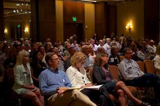 Members of the local business circuit fill a room at The Four Seasons in Vail during the Vail Valley Business Forum on Tuesday. Keynote speakers focused on four challenge areas facing the Vail Valley economy: Regional economic development, workforce, healthcare and transportation.