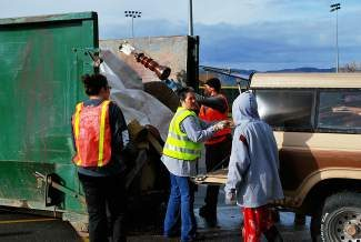 The community dump site at the Gypsum Sports Complex parking lot will have dumpsters for household trash, tires (limit four) and yard items. In addition, Trinity Recycling will be on site for metal, appliance and electronic recycling. Habitat for Humanity will have a truck to take unwanted furniture in good condition.
