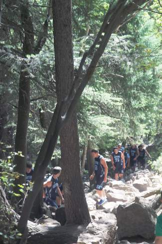 Crowds can make the hike feel like a busy stairwell instead of a trail.