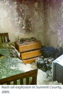 This is the aftermath of a 2009 hash oil explosion in Summit County. Avon's Joshua Rosenbaum faces arson charges for a hash oil explosion in Avon's Liftview apartments this summer.