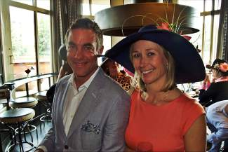 Steve and Amy Kisielica, who dressed to impress, looked like they belonged in the Grandstand or clubhouse box seats at the Kentucky Derby during the Vail Derby Party.