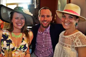 Katie Biggers, Travis Coggin and Emily Selonik were out to support Children's Garden of Learning at the Vail Derby Party on Saturday.