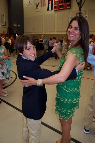 Fisher and Jennifer Sassi enjoy a dance together at Eagle County Charter Academy's formal on May 26.