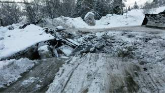 A Saturday rockslide caused significant damage to the pavement on Highway 24 between Minturn and Red Cliff. Crews are working to clear and repair the road. Officials hope for a mid-Tuesday re-opening.
