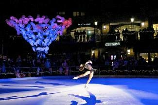 Professional ice skaters will perform today and Saturday at 5 p.m. in Winter Solstice on Ice on the ice rink in Solaris Plaza in Vail Village.