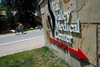 A bicyclist rides past the Valley Valley Medical Center on Meadow Road in Vail on Tuesday. Medical center officials are outlining a plan to expand the hospital while trying to relieve some of the issues for emergency vehicles caused by traffic and pedestrians along Meadow Road.