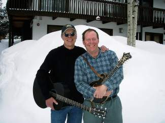 """Jim Carstensen (left), will play his newest CD, """"Willie's Chickens,"""" with Willie McDonald, tonight at the Vail Racquet Club Mountain Resort."""