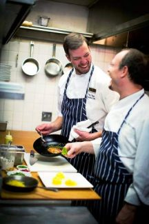 La Tour chef-owner Paul Ferzacca, right, and  executive chef, Troy Froman. Froman will lead the Chefs in the Garden cooking demonstration in Vail today.