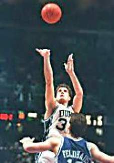 """Duke's Christian Laettner makes """"The Shot"""" in a 104-103 win over Kentucky during the 1992 Eastern Regional Final of the NCAA Tournament in East Rutherford, N.J. Laettner will return to Vail Christian High School for a fundraiser on Nov. 23 to talk about his career with Duke, the 1992 Dream Team as well as his many years in the NBA."""