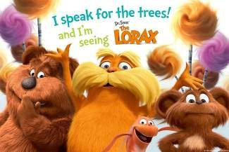 "Enjoy a free screening of ""The Lorax"" in Lionshead tonight."