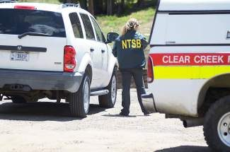 Investigators with the National Transportation Safety Board are at the scene of a single engine plane crash that occurred at about 8:45 a.m. Monday, June 30, at Loveland Ski Area.