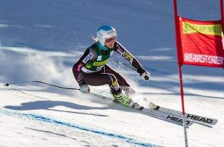 Julia Mancuso makes her way down the new World Cup Raptor downhill course at Beaver Creek during training in November.