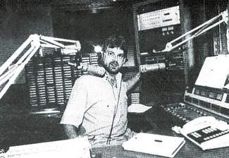 Kelly Hethcote — also known as Kelly Thomas — at the KZYR studio in 1988.