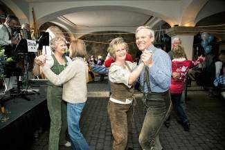 Get ready to polka at the Sonnenalp Hotel's Oktoberfest celebration today.