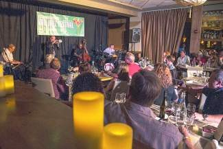 Members of the Dallas Symphony Orchestra perform at Larkspur last week during the Jazz After Dallas JamTthe second Jazz After performance starring members of The Philadelphia Orchestra and jazz trumpeter Terell Stafford takes place at Larkspur at 9 p.m. Saturday.