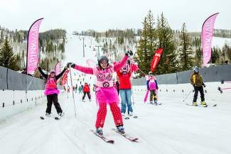 Pink Vail, the fundraising ski day for the Shaw Regional Cancer Center, is staying at Vail Mountain for the next four winters.
