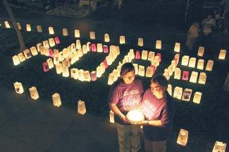 A luminaria ceremony takes place at every Relay For Life event. People can make a $10 donation and create a luminaria bag to honor or memorialize a loved one who has had cancer (including pets).