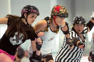 See some local derby girls battle it out tonight in Eagle.