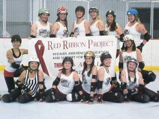 """The 10th Mountain Roller Dolls are hosting """"Melee in the Mountains"""" in Eagle, a roller derby mix-up tournament featuring a round-robin elimination, a co-ed bout and championship bout. This event is scheduled for Saturday, May 17 at the Eagle Pool and Ice Rink. The 10th Mountain Roller Dolls will be donating a portion of the proceeds from ticket sales to The Red Ribbon Project."""
