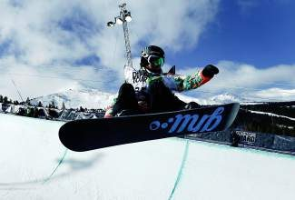 Kaitlyn Farrington, shown here competing in the superpipe final at the Dew Tour iON Mountain Championships Dec. 14 in Breckenridge, is one of 10 Ski and Snowboard Club Vail athletes and alumni who have qualified for the Sochi Olympics.
