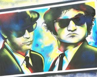 "Local pop artist Shen began her career as a graffiti artist in Northern California and will be among the Eagle County artists at July's Art on the Rockies. Pictured: ""Jake and Elwood,"" by Shen."